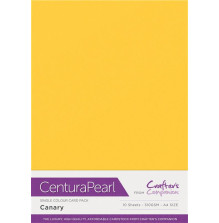 Crafters Companion Centura Pearl Card Pack A4 10Pkg 300gr - Canary