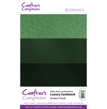 Crafters Companion Luxury Cardstock Pack A4 30Pkg 250gr - Green