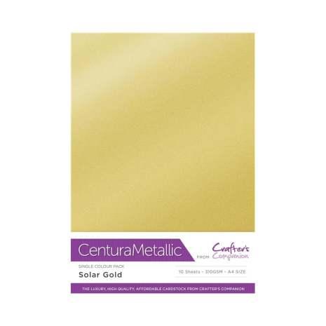Crafters Companion Centura Metallic Card Pack A4 10/Pkg 310gr - Solar Gold