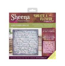 Sheena Douglass Create a Flower 8X8 Stencil - Another Brick UTGÅENDE