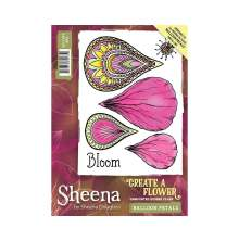 Sheena Douglass Create a Flower A6 Rubber Stamp - Balloon Petals