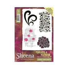 Sheena Douglass Create a Flower A6 Rubber Stamp - Funky Textures 2 UTGÅENDE