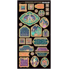 Graphic 45 Chipboard Die-Cuts 6X12 - Midnight Masquerade Decorative