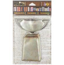 7 Gypsies Architextures Treasures Adhesive Embellishments - Metal Urn