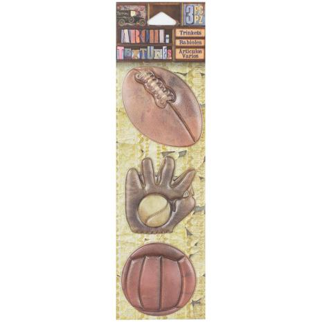 7 Gypsies Architextures Trinkets Adhesive Embellishments - Play Ball