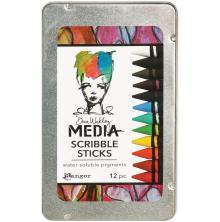 Dina Wakley Media Scribble Sticks 12/Pkg