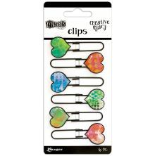 Dylusions Creative Dyary Clips 6/Pkg