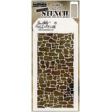 Tim Holtz Layered Stencil 4.125X8.5 - Stone