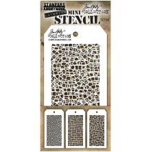 Tim Holtz Mini Layered Stencil Set 3/Pkg - Set 28