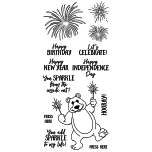 Art Gone Wild Nicole Tamarin Clear Stamp Set - Sparkler Bear UTGÅENDE