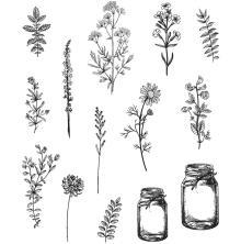 Tim Holtz Cling Stamps 7X8.5 - Flower Jar