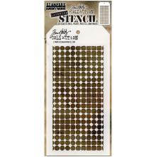 Tim Holtz Layered Stencil 4.125X8.5 - Grid Dot