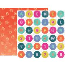 Pink Paislee Oh My Heart Double-Sided Cardstock 12X12 - 20 UTGÅENDE