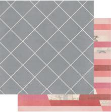 Heidi Swapp Magnolia Jane Double-Sided Cardstock 12X12 - Antebellum