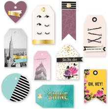 We R Memory Keepers Layered Tags 10/Pkg - Urban Chic UTGÅENDE