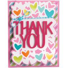 Sizzix Framelits Drop-Ins Dies 4/Pkg - Thank You Card