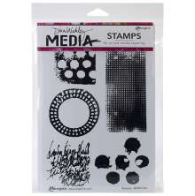 Dina Wakley Media Cling Stamps 6X9 - Textures