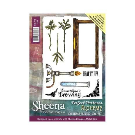 Sheena Douglass Perfect Partner Alchemy A6 Stamp Set - Something´s Brewing
