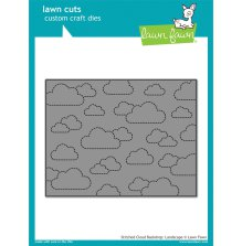 Lawn Fawn Custom Craft Dies -  Stitched Cloud Backdrop: Landscape