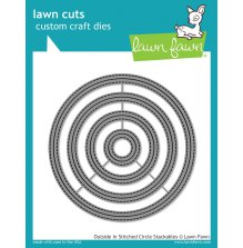 Lawn Fawn Custom Craft Dies - Outside In Stitched Circle Stackables
