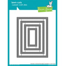 Lawn Fawn Custom Craft Dies - Outside In Stitched Rectangle Stackables