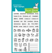 Lawn Fawn Clear Stamps 4X6 - Plan On It: Vacation