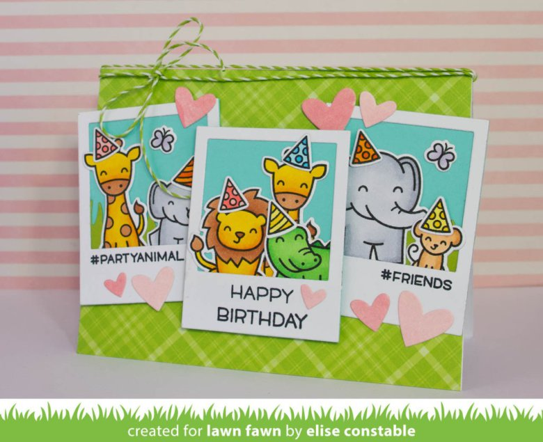 Lawn Fawn LF1413 Wild for you clear stamps