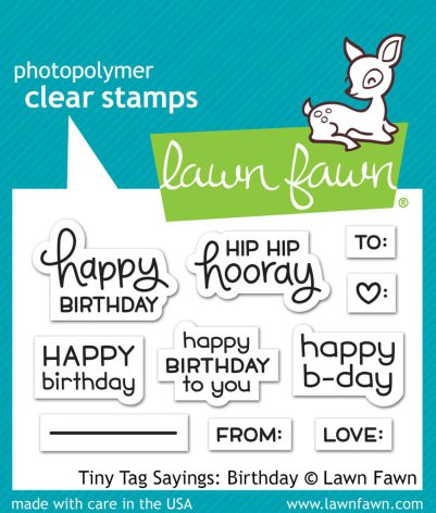 Lawn Fawn Clear Stamps 3X2 - Tiny Tag Sayings: Birthday