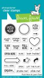 Lawn Fawn Clear Stamps 3X4 - Push Here
