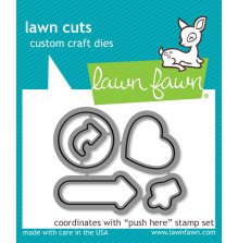 Lawn Fawn Custom Craft Die - Push Here