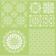 Kaisercraft Designer Template 12X12 - Intricate Tiles