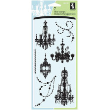 Inkadinkado Clear Stamps 4X8 - Chandeliers*