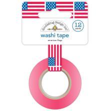Doodlebug Washi Tape 15mmX12yd - American Flags