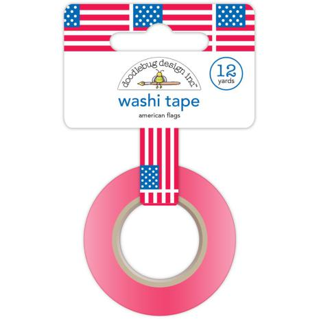 Doodlebug Washi Tape 15mmX12yd - American Flags