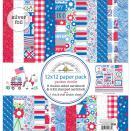 Doodlebug Paper Pack 12X12 - Yankee Doodle