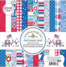 Doodlebug Paper Pad 6X6 24/Pkg - Yankee Doodle UTGÅENDE
