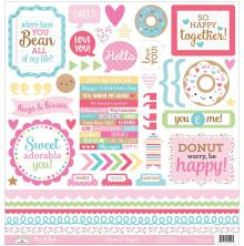 Doodlebug Cream & Sugar Cardstock Stickers 12X12 - This & That