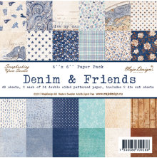 Maja Design Paper Pack 6X6 - Denim & Friends