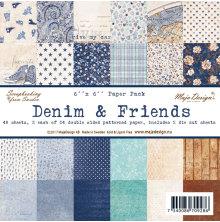 Maja Design Paper Stack 6X6 - Denim & Friends