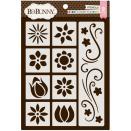 BoBunny Thick Stencils 9.5X6.5 - Flower Fun