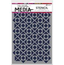 Dina Wakley Media Stencils 6X9 - Almost Ikat
