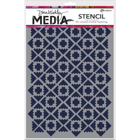 Dina Wakley Media Stencils 6X9 - Almost Ikat