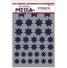 Dina Wakley Media Stencils 6X9 - Variegated Stars