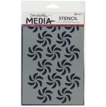 Dina Wakley Media Stencils 6X9 - Bendy Pinwheels