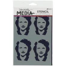 Dina Wakley Media Stencils 6X9 - Four Women