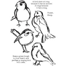 Dina Wakley Media Cling Stamps 6X9 - Scribbly Birds