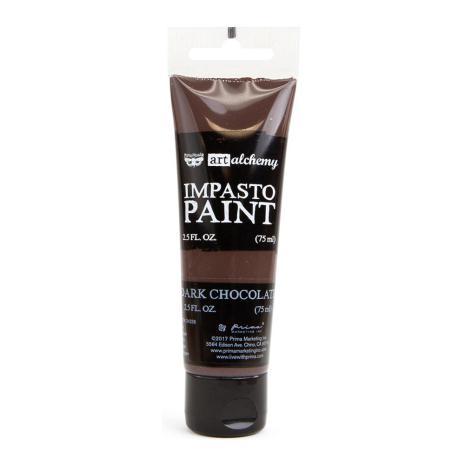 Prima Finnabair Art Alchemy Impasto Paint 75ml - Dark Chocolate