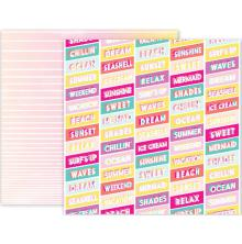 Pink Paislee Summer Lights Double-Sided Cardstock 12X12 - #04