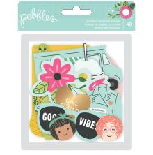 Pebbles Ephemera Cardstock Die-Cuts 40/Pkg - Girl Squad