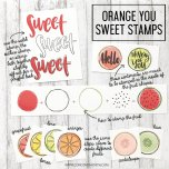 Concord & 9th Clear Stamps 6X8 - Orange You Sweet